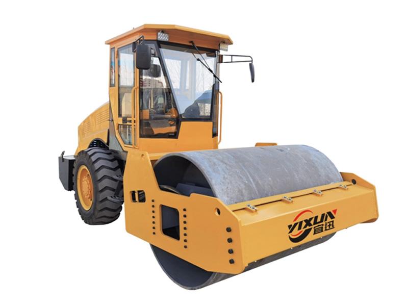 宜迅10吨单钢轮压路机高清图 - 外观