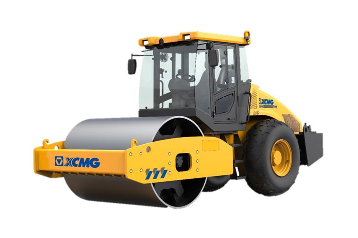 徐工XS123全液压单钢轮压路机高清图 - 外观