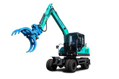 【720°全景展示】宇龍YL80W輪式挖掘機