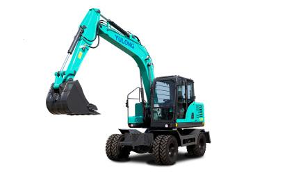【720°全景展示】宇龍YL128W系列輪式挖掘機