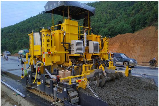 镇江阿伦AHT6000滑模水泥混凝土摊铺机高清图 - 外观