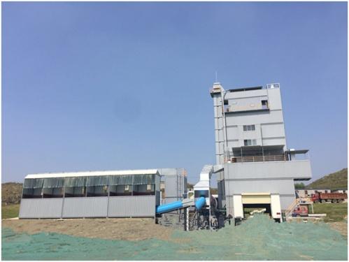镇江阿伦AHB 4000集装箱环保型沥青混凝土搅拌设备