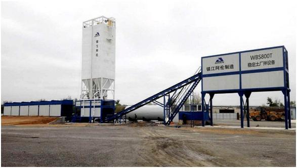 镇江阿伦WBS700T双搅拌(强制+强制)稳定土厂拌设备