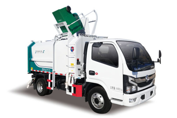 同辉汽车QTH5046ZZZ东风国六 7方侧装挂桶垃圾车