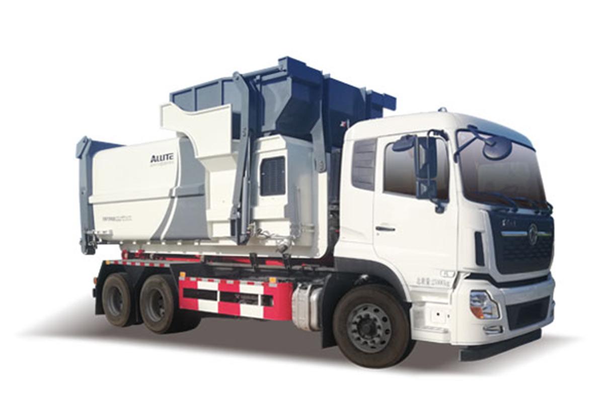 同辉汽车QTH5253ZXX天龙国六勾臂式垃圾车高清图 - 外观