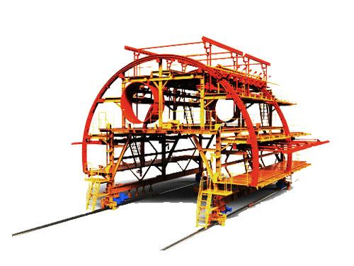 防水板钢筋铺设台车
