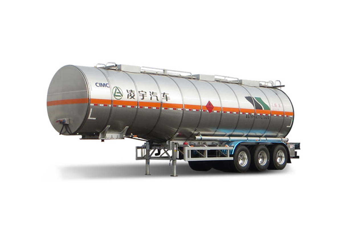 凌宇汽车CLY9405GRYC46.5方不锈钢保温半挂车(易燃液体运输车)高清图 - 外观