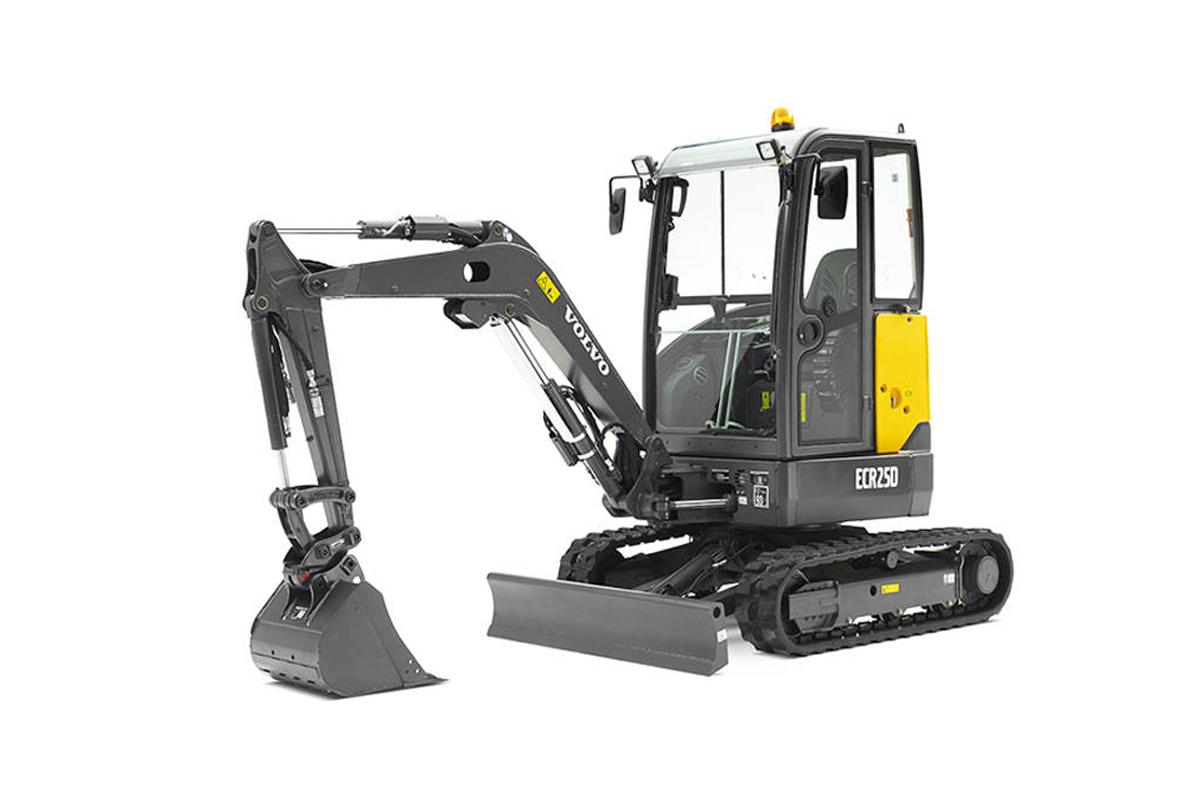 沃尔沃ECR25D小型挖掘机高清图 - 外观