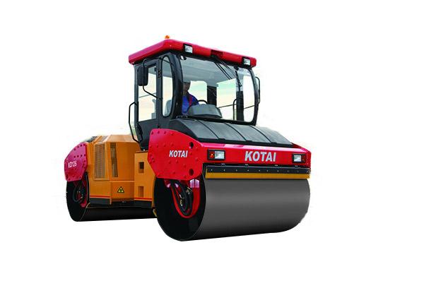 科泰重工KD126F双钢轮压路机高清图 - 外观