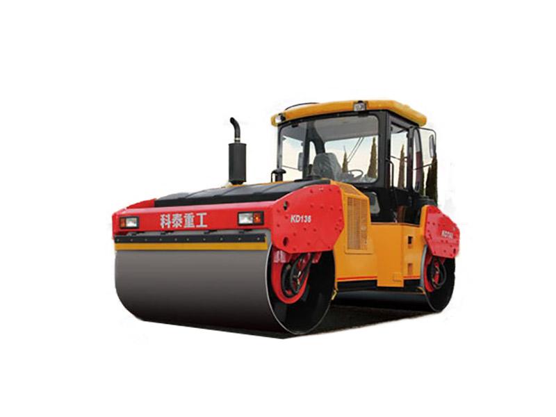 科泰重工KD136全液压双钢轮振动压路机高清图 - 外观