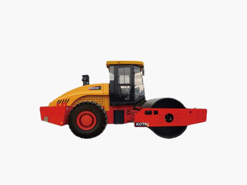 科泰重工KS205D单钢轮压路机(双驱)高清图 - 外观
