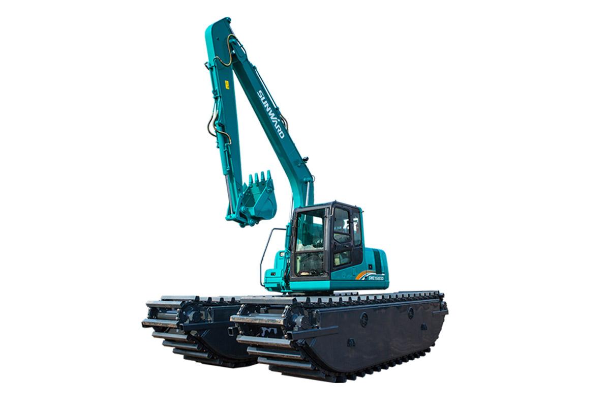 山河智能SWE300SD中型挖掘机高清图 - 外观