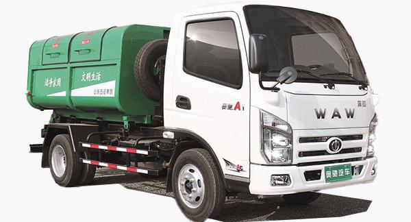 奥驰汽车奥驰车厢可卸式垃圾车高清图 - 外观