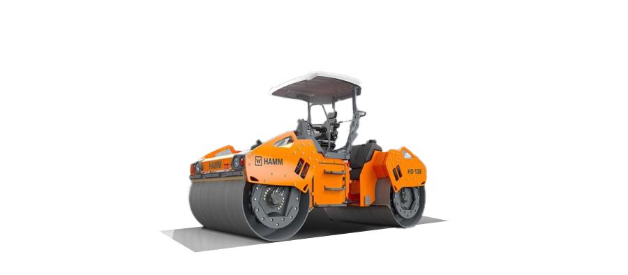 悍马HD O 138 V  双钢轮压路机高清图 - 外观