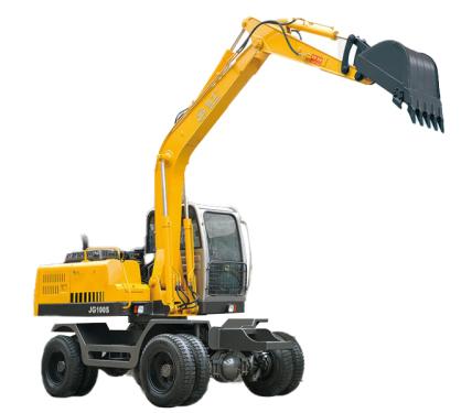 劲工100S轮式挖掘机自动挡液压行走高清图 - 外观