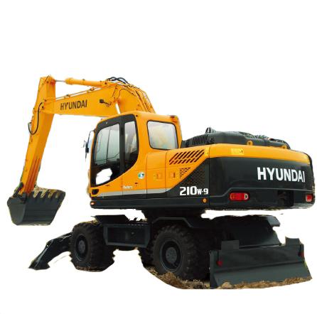 现代重工R210W-9挖掘机高清图 - 外观