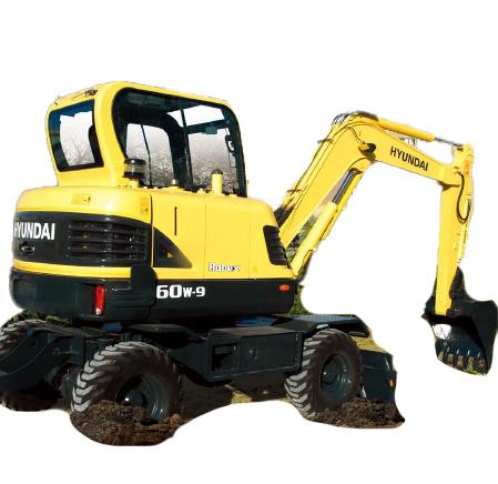 现代重工R60W-9挖掘机高清图 - 外观