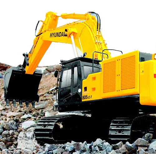 现代重工R805LC-7挖掘机高清图 - 外观
