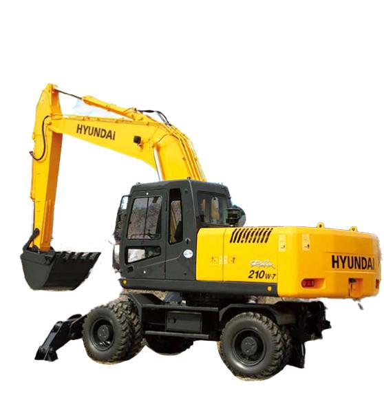 现代重工R210W-7轮式挖掘机高清图 - 外观