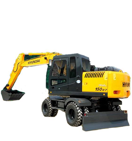 现代重工R150W-7轮式挖掘机高清图 - 外观