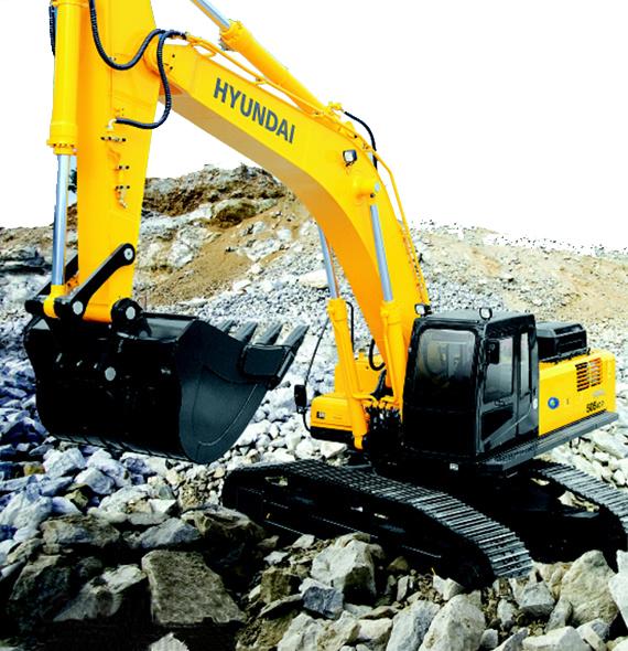 现代重工R505LC-7挖掘机高清图 - 外观