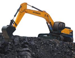 现代重工350LVS挖掘机