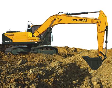 现代重工225LVS挖掘机