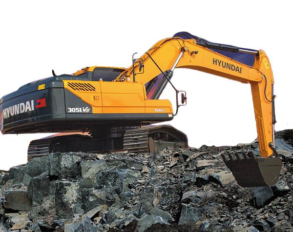 现代重工305LVS挖掘机