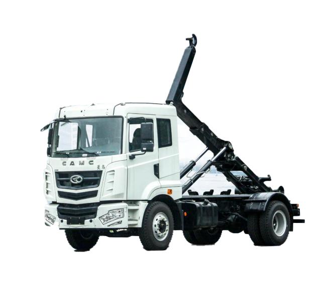 华菱星马AH5250ZDJ0L5车厢可卸式垃圾车(拉臂式)高清图 - 外观
