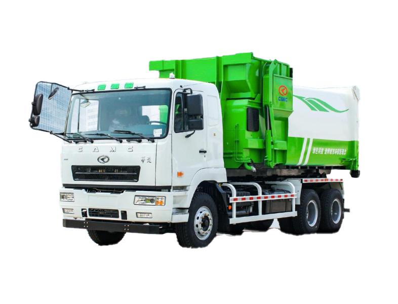 华菱星马XMYS10C3拉臂式垃圾车专用箱高清图 - 外观