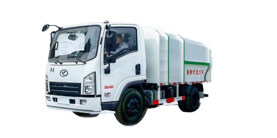 华菱星马H1H1底盘自卸式垃圾车高清图 - 外观