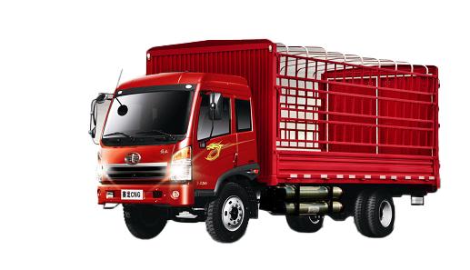 青岛解放赛龙CNG4×2仓栅式载货车(城际物流)高清图 - 外观