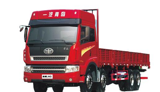 青岛解放途威LNG8×4载货(中长途物流运输车)高清图 - 外观