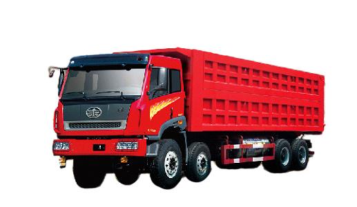 青岛解放新大威 LNG 8×4自卸车(重载型)高清图 - 外观