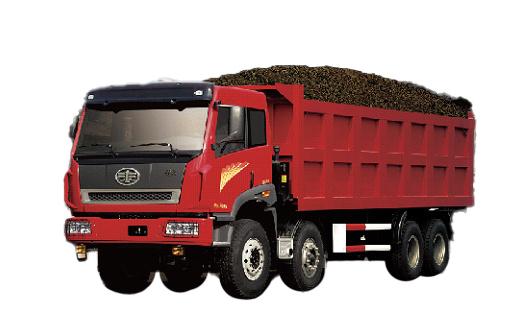 青岛解放途威 8×4自卸车(公路运输版)