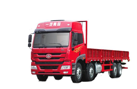 青岛解放新悍威 8×2载货车高清图 - 外观
