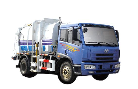 青岛解放J5M4x2压缩垃圾车高清图 - 外观