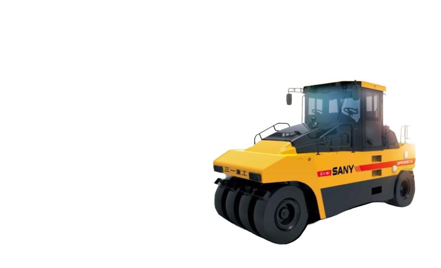 三一重工SPR300-5轮胎压路机高清图 - 外观