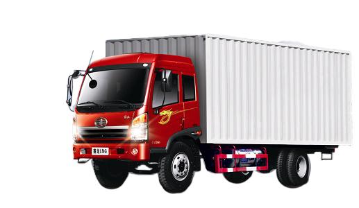 青岛解放赛龙LNG4×2厢式载货车(城际物流)高清图 - 外观