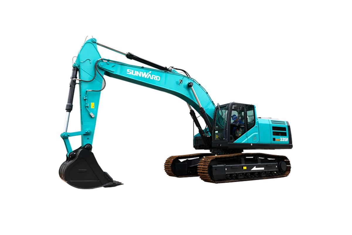 山河智能SWE335F大型挖掘机高清图 - 外观