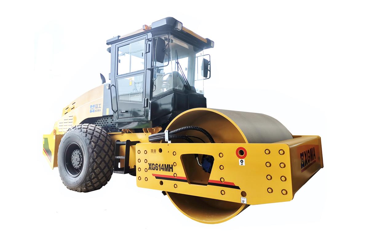 厦工XG614MH机械式单钢轮压路机高清图 - 外观
