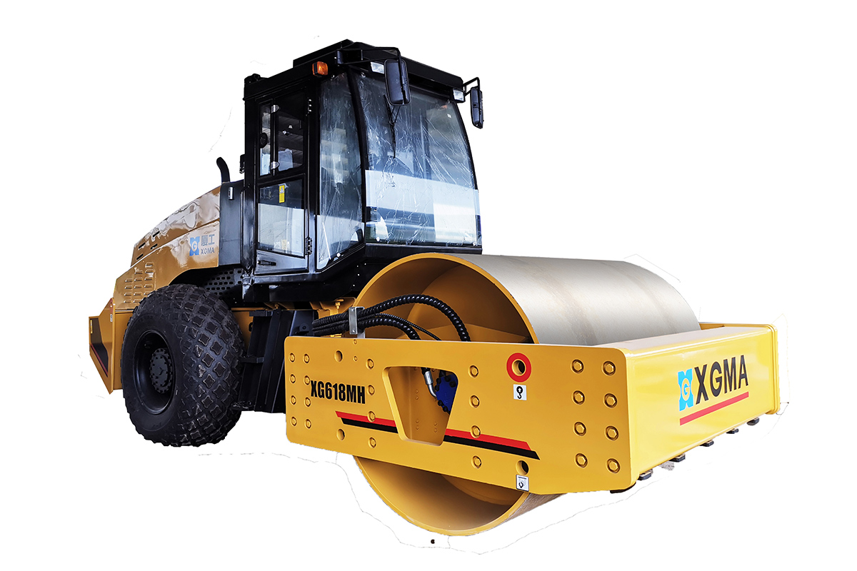厦工XG618MH机械式单钢轮压路机高清图 - 外观