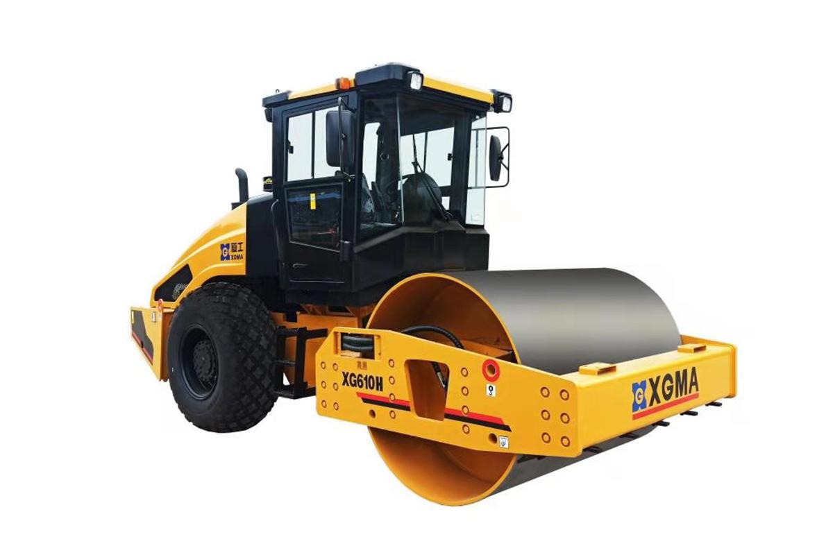厦工XG610H全液压单钢轮压路机高清图 - 外观