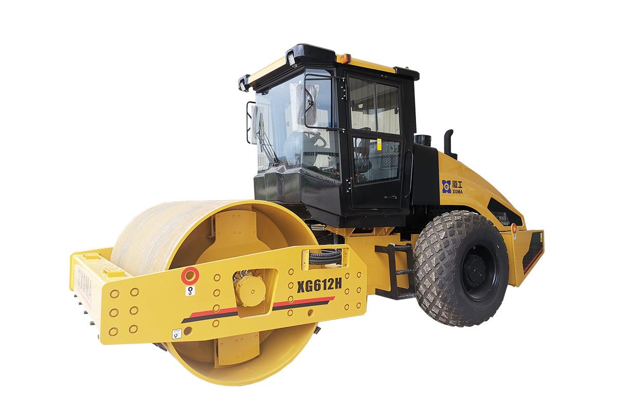 厦工XG612H全液压单钢轮压路机高清图 - 外观