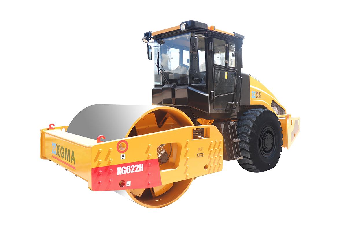 厦工XG622H全液压单钢轮压路机高清图 - 外观
