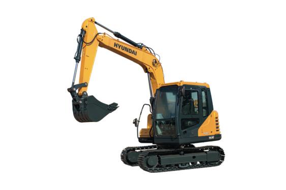 现代重工R75VS小型挖掘机