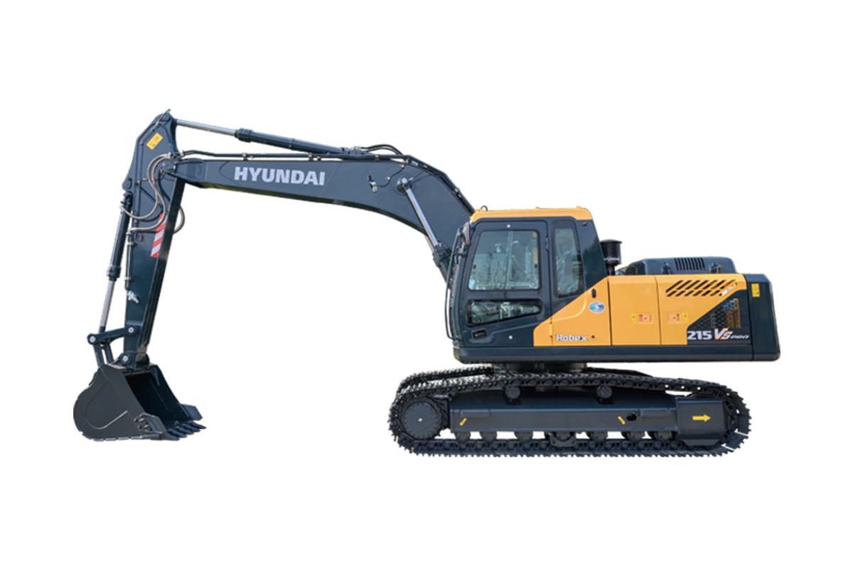 现代重工R215VS PRO中大型挖掘机高清图 - 外观