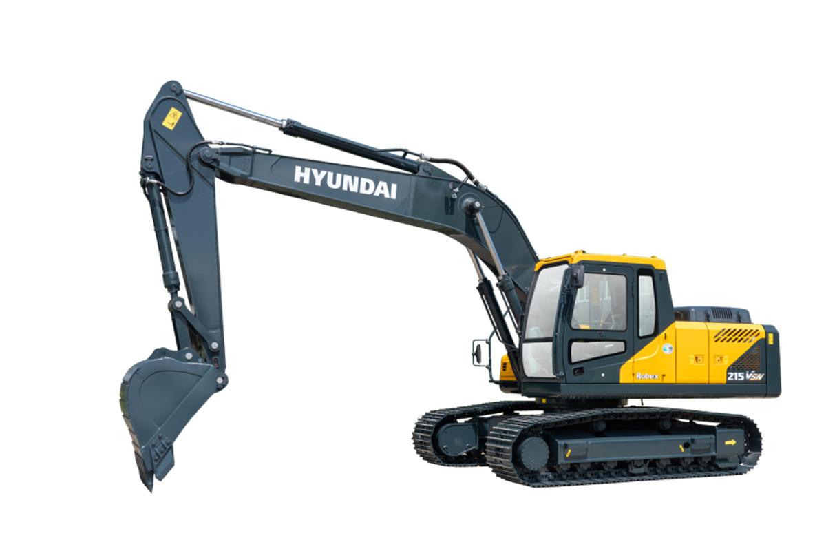 现代重工R215VSN中大型挖掘机高清图 - 外观