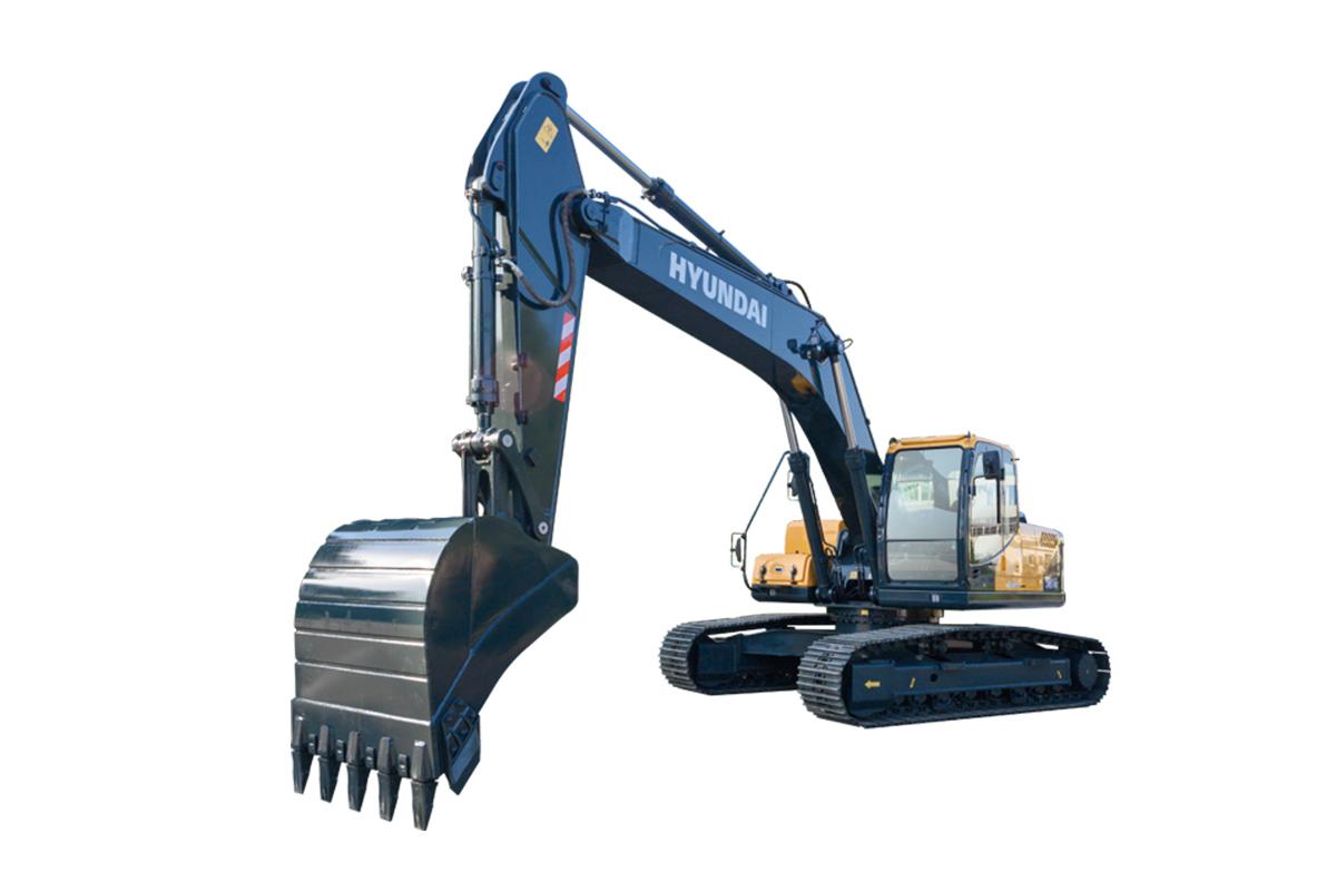 现代重工R245VS中大型挖掘机高清图 - 外观