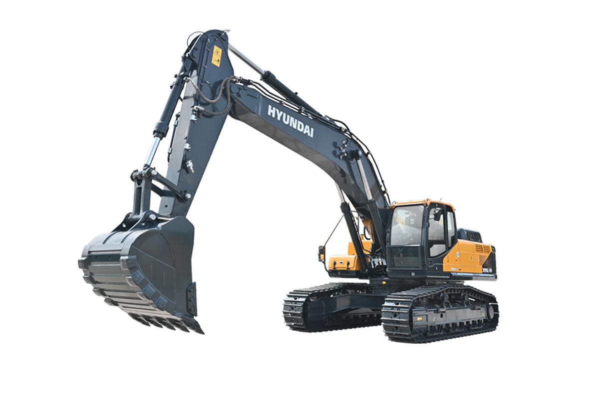 现代重工R395LVS中大型挖掘机高清图 - 外观